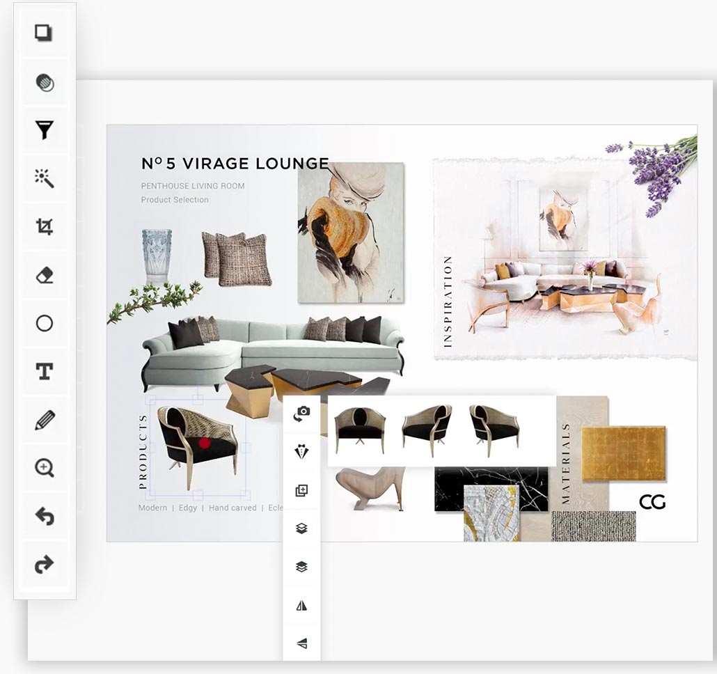 Libraries give you quick access to the Catalog, fonts, colors, graphics and other creative assets you use most. All your assets stay up to date across your desktop and mobile devices.